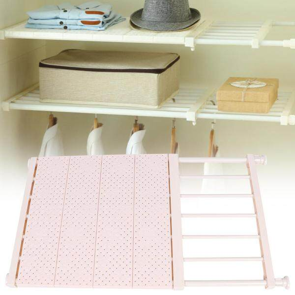 Nail-Free Wardrobe Layered Partition Telescopic Closet Wardrobe Layered Storage Rack