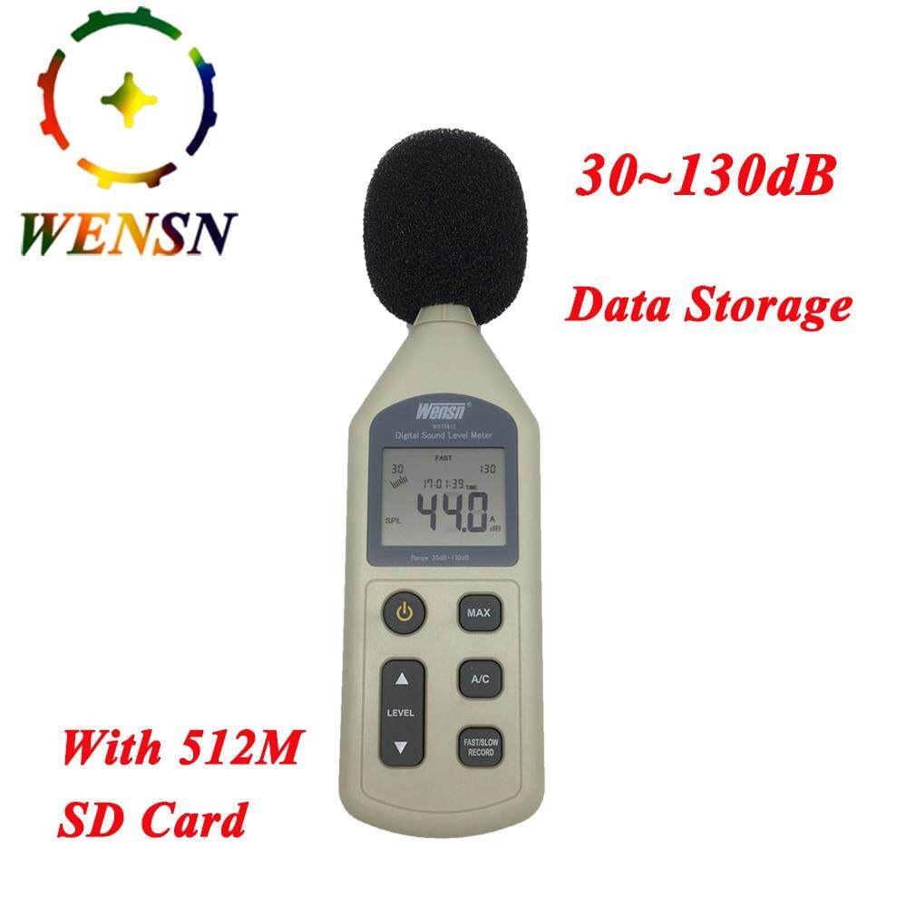 Digital Sound Level Meter 30-130dB LCD Noise Measuring Instrument A/C Feature Decibel Monitoring Logger Tester With 512M SD card
