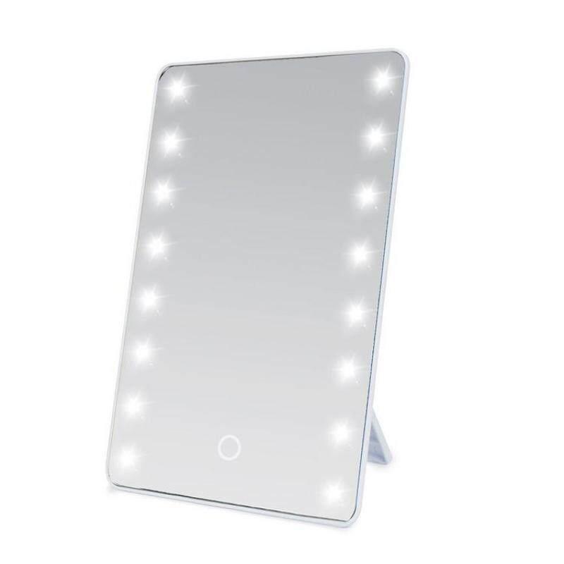 Đèn LED Vuông Gương Trang Điểm Có Đèn Chân Đế Di Động Có Thể Gập Lại Độ Sáng Điều Chỉnh
