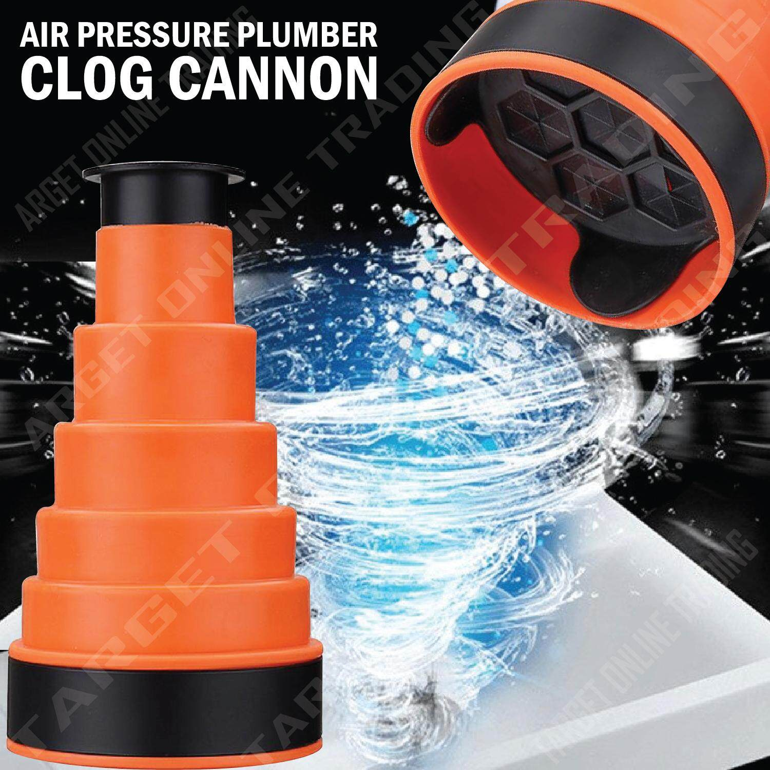Cannon Clog Air Pressure Plumber Sink Toilet Drain Blaster Clean Pump