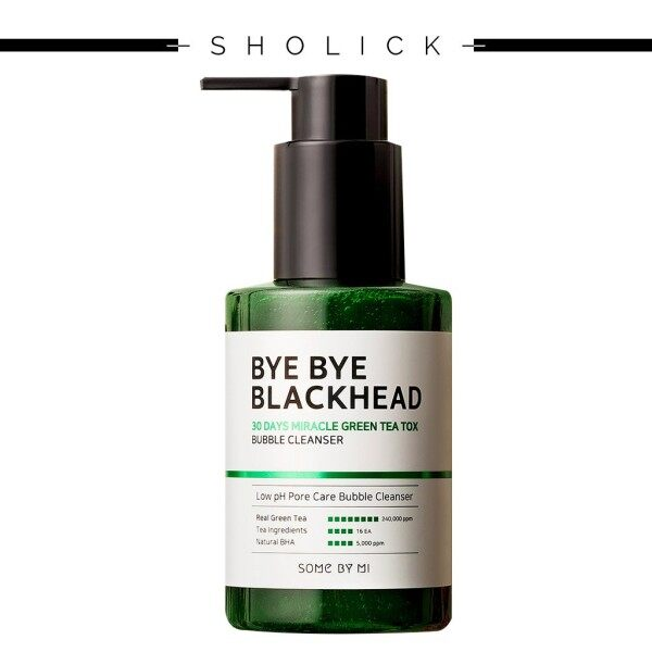 Buy [SOME BY MI] Bye Bye Blackhead 30 Days Miracle Green Tea Tox Bubble Cleanser 120g Singapore