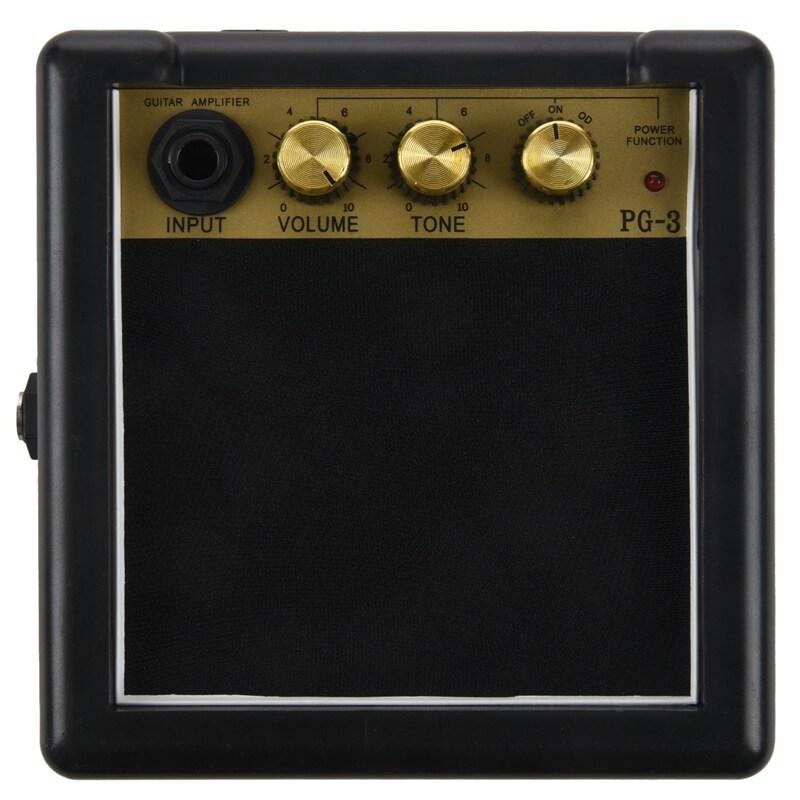 Portable Mini Guitar Bass Amplifier Guitarra AMP 5W Speaker Clip-On Guitar Parts Accessories for Acoustic Electric Guitar PG-3