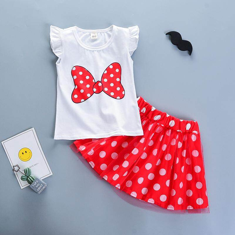a58f98e30df BibiCola Summer Girls Clothing Sets Kids Girl Cartoon Tops+Skirts 2pcs  Clothes for Baby Girl