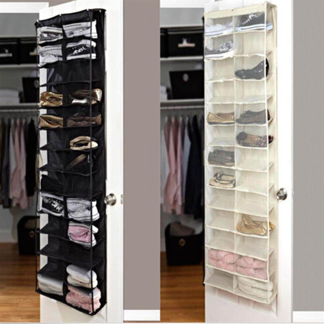 Shoe Rack Storage Organizer Holder Folding Hanging Door Closet 26 Pocket