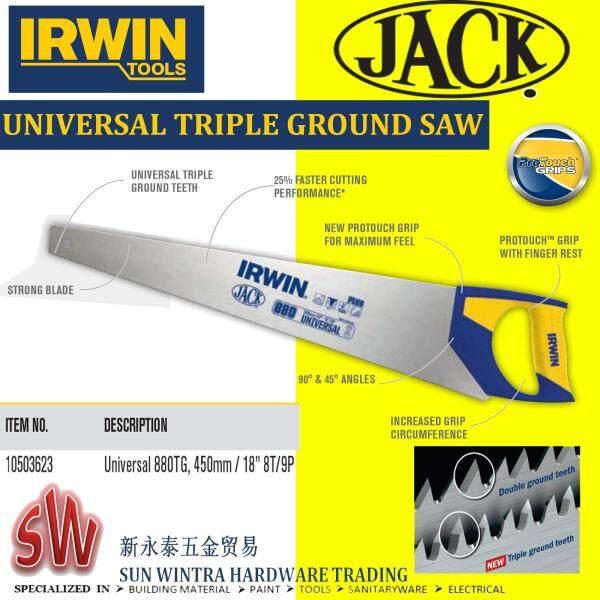 IRWIN PLUS880 18/450MM UNIVERSAL TRIPLE GROUND SAW