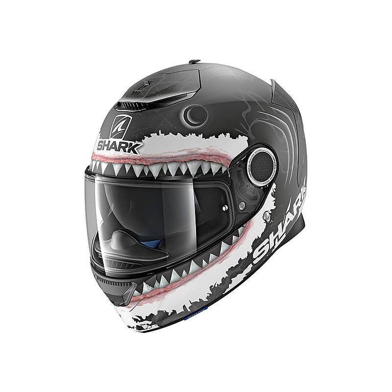 Shark SPARTAN LORENZO WHITE SHARK MAT HE5053EKWA Motorcycle Bike Motorbike Helmet