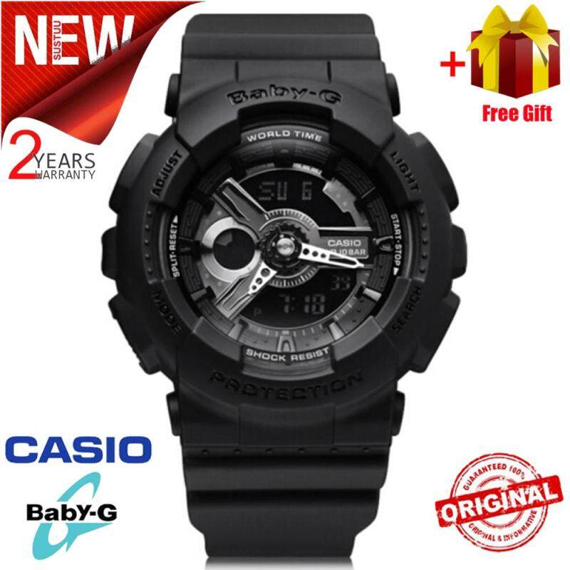 (Free Shipping) Original Casio Baby G_BA-110BC-1A Men Sport Watch Duo W/Time 200M Water Resistant Shockproof and Waterproof World Time LED Auto Light Wist Sports Watches with 2 Year Warranty BA110/BA-110 Malaysia