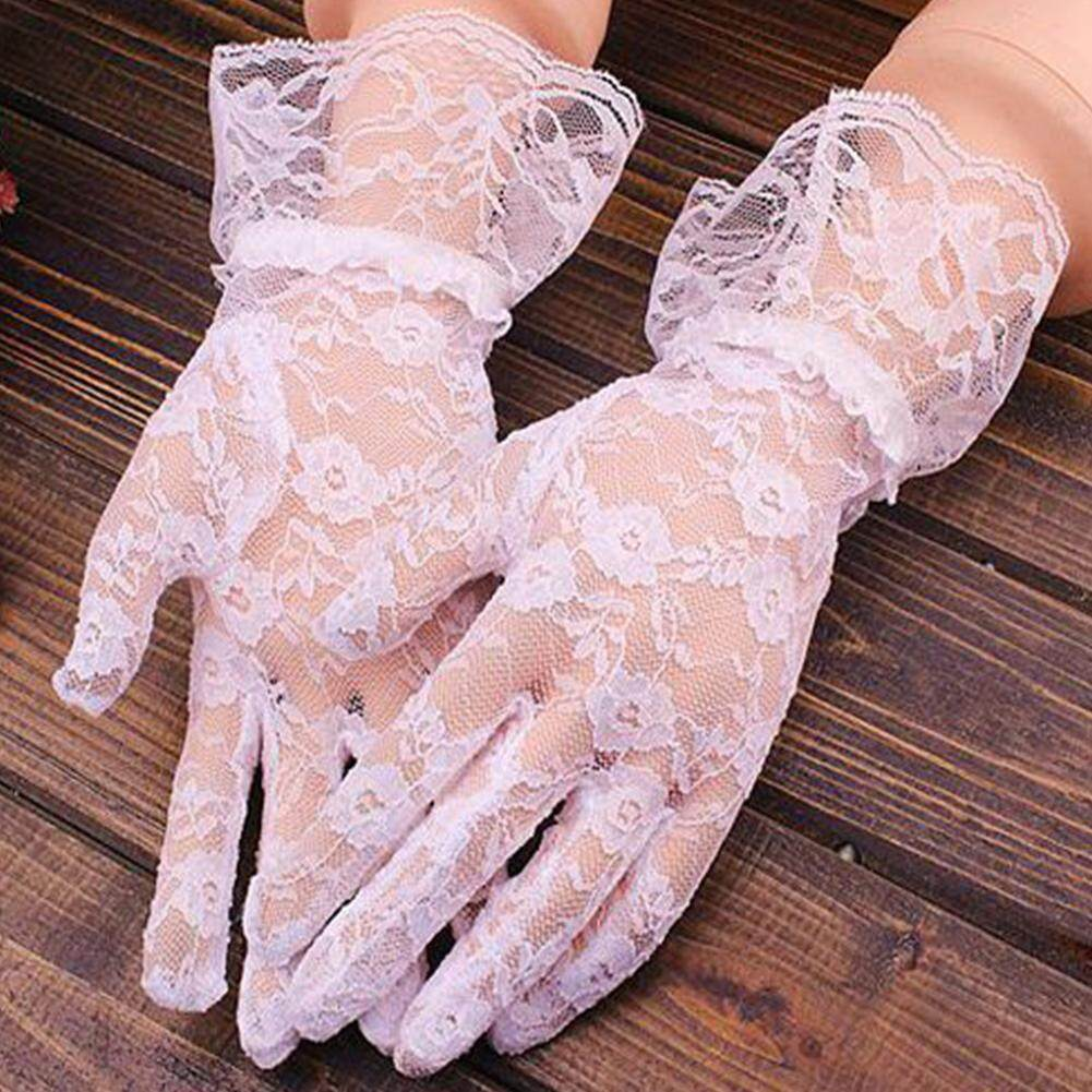 bf9b2ae59 Women Lace Wedding Bridal Evening Party Costume Accessory Elegant Gloves  Mittens