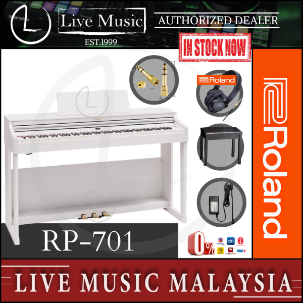 Roland RP-701 88-key Digital Piano with Stand, Bench, Headphone & Adaptor - White (RP701/RP 701) Malaysia