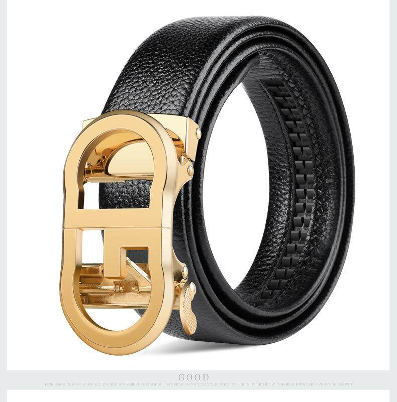 Squid belt men's leather automatic buckle youth business casual middle-aged leather men's belt