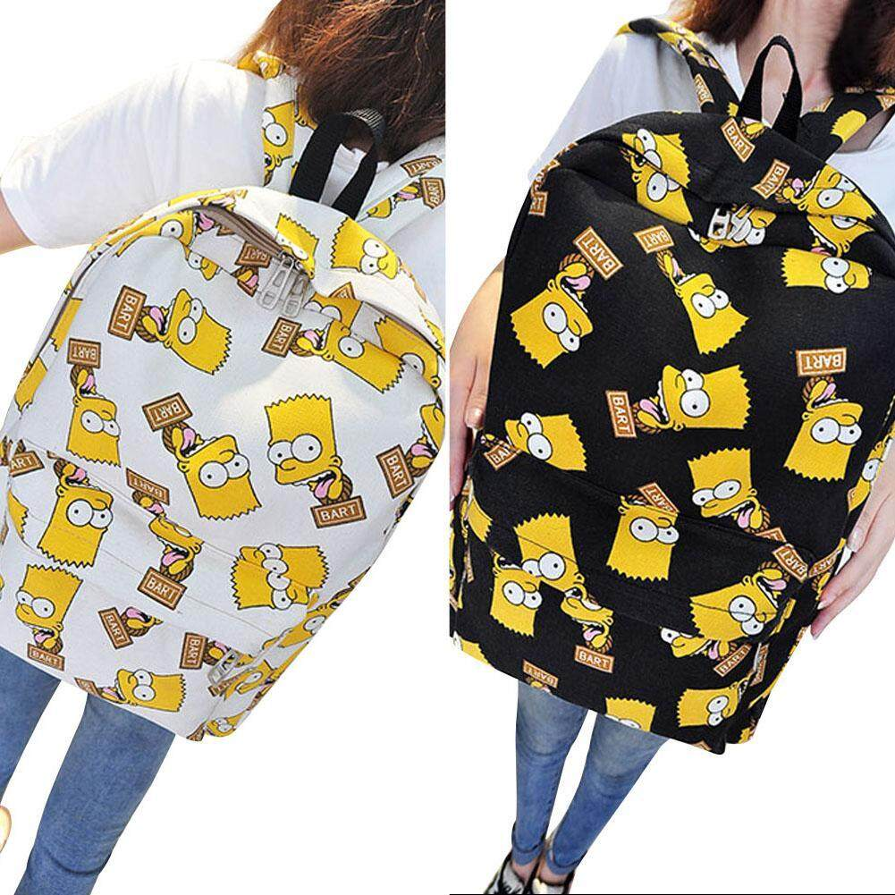 6fdbefa6ad9e 1pc Simpson Family Cartoon Printing Canvas Travel Backpack Girls School  Rucksack Bag (2 Color Options)
