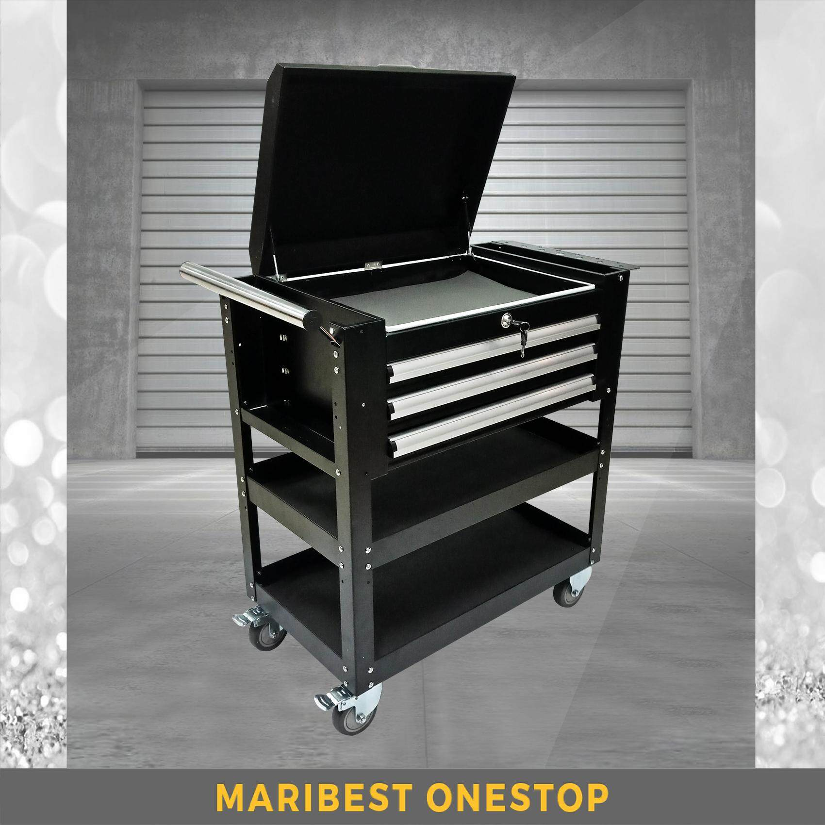 DT-522 Heavy Duty Steel Metal Service Tool Cart with Drawers Trolley (RANDOM COLOR)