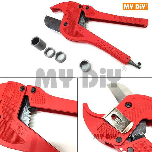 MY DIY - Anton PVC Pipe Cutter With Belt Clip / Pipe Cutter Vinyl and Plastic Hose Tube Ratcheting Cutters for PVC CPVC PP PEX PE