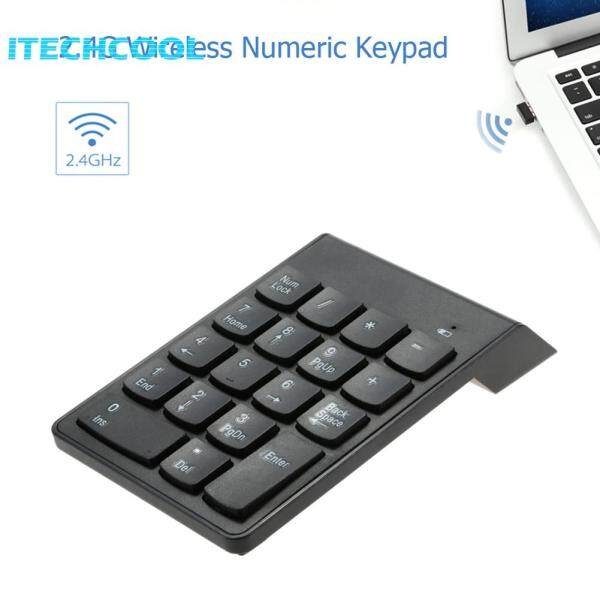 Professional 18 Keys 2.4GHz Wireless Numeric Keypad for Accounting Teller Laptop Notebook Singapore