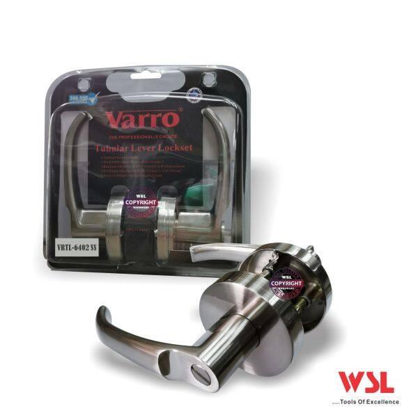 Varro 6402-SS Tubular Lever Lockset ( Heavy Duty ) Privacy Lock for Toilet Door