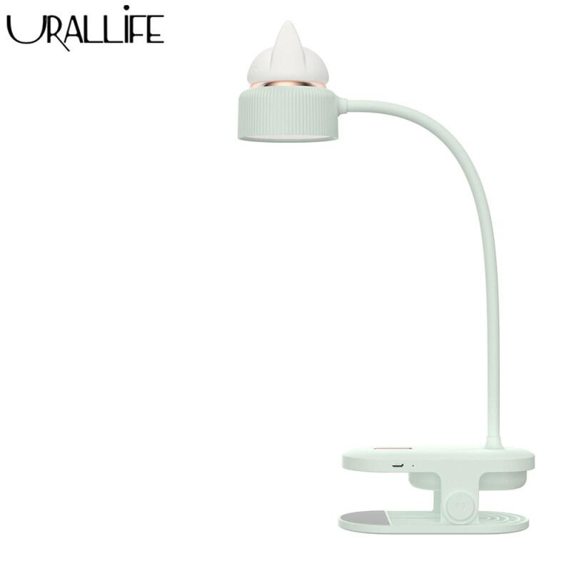 Urallife Lamp LED Desk Lamp USB Charging Folding Clip Light Three-speed Adjustable Cat Reading Night Light For Home Office