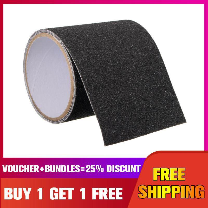 【Buy one get one free】10CM*1M Roll Safety Non Skid Tape Anti Slip Tape Sticker Grip Safe Grit Shower -- Black