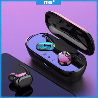 Tai Nghe Bluetooth JTKE, Tai Nghe Không Dây Tai Nghe Nhét Trong Tai TWS, Tai Nghe Chống Nước IPX5 Tai Nghe Thể Thao Âm Thanh Nổi 3D Dành Cho Iphone Xiaomi Huawei thumbnail