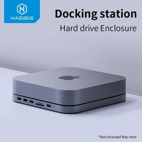 USB-C Hub with SATA Hard Drive Enclosure USB 3.0 hub for Mac mini MacBook Pro Type-C SSD HDD Case SD/TF Card Reader