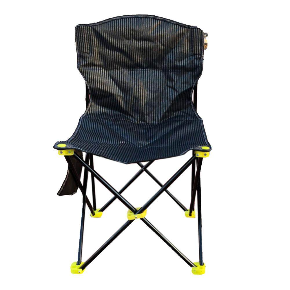 Camping Chair with Side Pocket Lounge Chair for Patio Swimming Pool Foldable Fishing Chair Outdoor Leisure Beach Chair Studio Chair