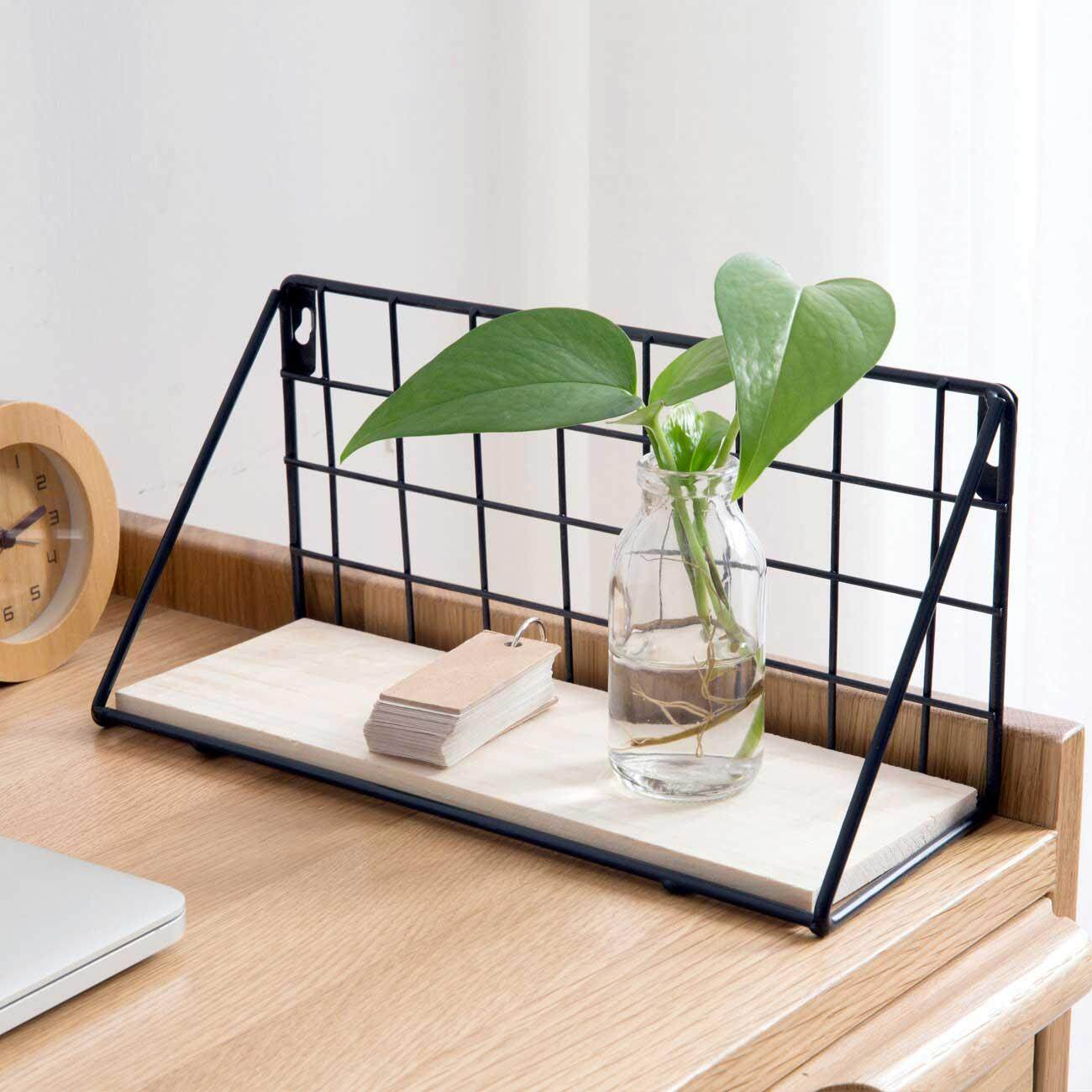 Homenhome Iron Wall hanging Storage Rack Flower Pots DIY Home Decoration