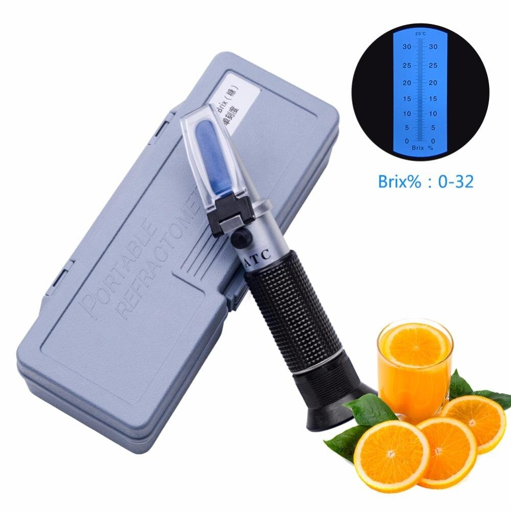 Refractometer Sugar Degree Meter Saccharimeter Cutting Fluid Density Concentration Meter 0-32% Brix With Retail Box By Jiada Shop.