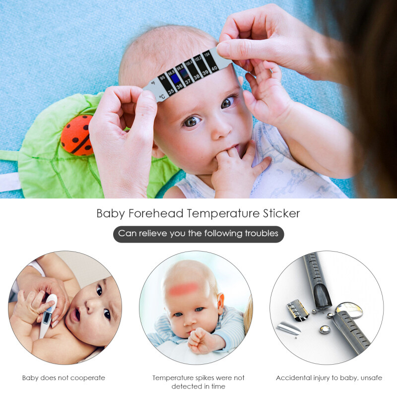 20pcs Children Kids Baby Care Flexible Body Fever Forehead Thermometer Sticker Thermometer Sticker
