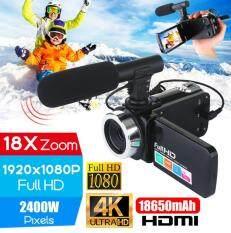 Máy Quay Video 4K HD Chuyên Nghiệp, Máy Quay Video Màn Hình Cảm Ứng LCD 3.0 Inch Nhìn Đêm, Camera Zoom Kỹ Thuật Số 18x Có Micro