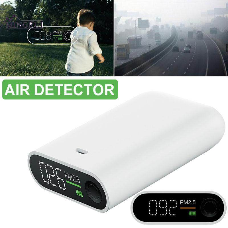 Mingrui White ABS 3W Smog Table Smog Detector Smog Measuring Instrument Durable Portable Practical Air Detector Air Quality Tester Household