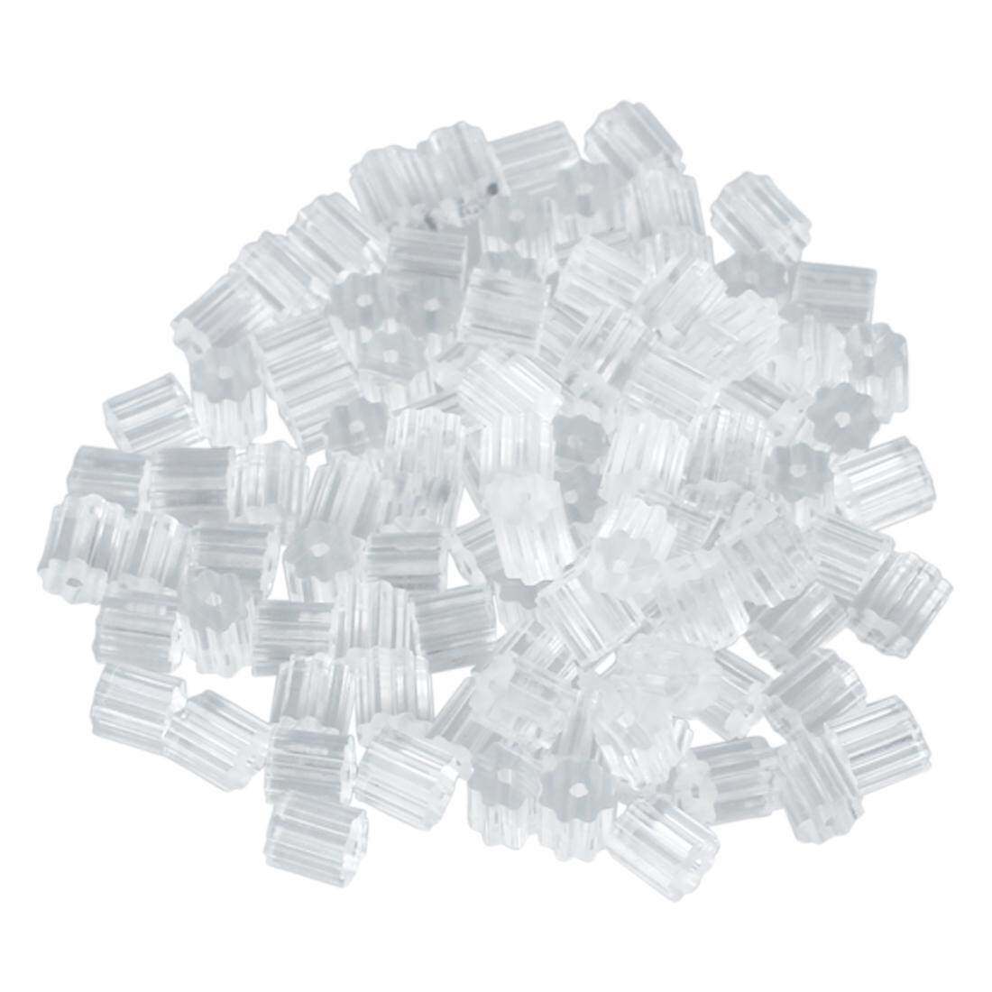 100pcs Earring Backs Medium 3mm Safety for Fish Hook Translucent Stoppers Protectors - Clear