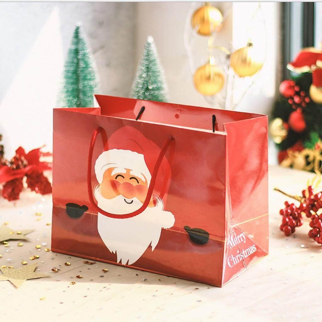 Mua ♂Ông Già Noel Túi Kẹo Trẻ Em Quà Tặng Túi Nai Sừng Tấm Giấy Túi Tote Giáng Sinh Vui Vẻ Trang Trí