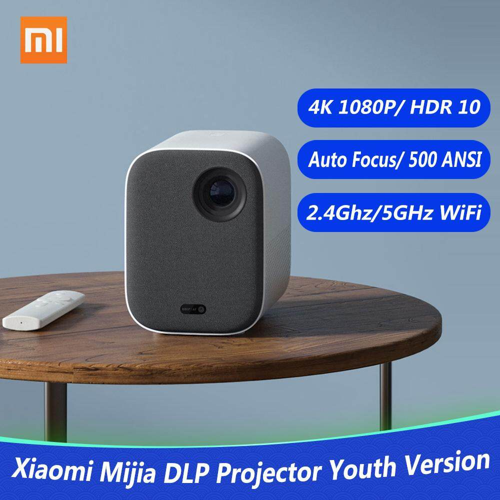Xiaomi Mijia DLP Projector Youth Version 1080P 4K Video 500 ANSI Lumens  Mount Projection HDR10 2 4G 5G WiFi 2GB+8GB Portable Projector for Home  Cinema