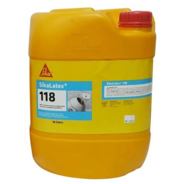 (18 Liter) Sika Latex®-118 Water-Resistant Polymer Bonding Agent And Mortar-Strengthening Additive