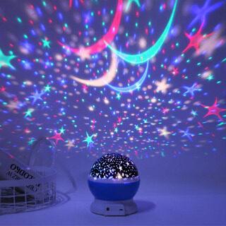 Đèn LED Ban Đêm Máy Chiếu Xoay Thiên Hà 3D Đèn Ngủ Đầy Sao Đèn Bầu Trời Sao Đèn Bóng Mới Lạ Trang Trí Tiệc Cưới thumbnail