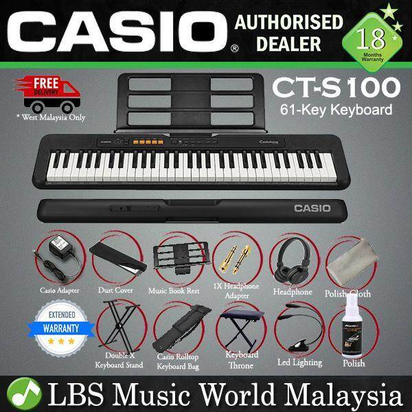 Casio CT-S100 61 Key Casiotone Electric Keyboard Full Package Music Piano (CTS100 CT S100 CTS 100) Malaysia