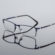 Gọng kính cận quang học làm bằng hợp kim dành cho nam và nữ có thể thay đổi tròng kính (kính 0 độ) – INTL
