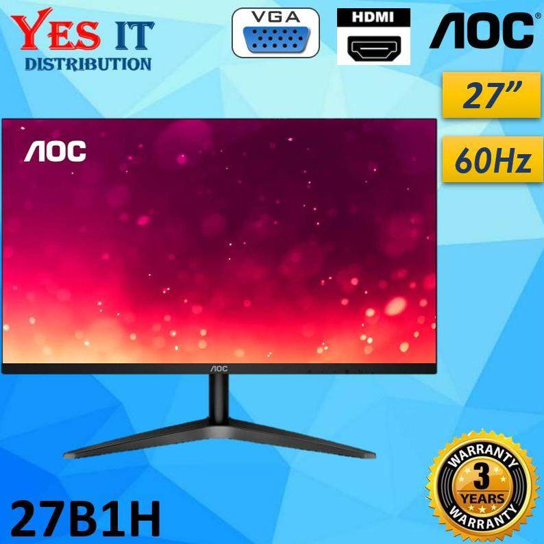 AOC 27B1H 27 Full HD 1920x1080 Monitor ( 3-Sided Frameless, IPS Panel, HDMI/VGA, Flicker-Free ) Malaysia