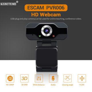 KEBETEME Webcam Máy ảnh web 1080P HD Webcam USB HD góc rộng 2MP 1920x1080p 30FPS 130 với mic cho máy tính để bàn máy tính xách tay thumbnail