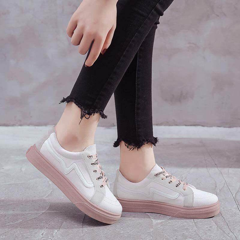 18376517a657d LENA Classic Shoes Women Canvas Casual Sneakers Shoes Flats Low Tops Lace  Up Running Shoes Kasut Sukan