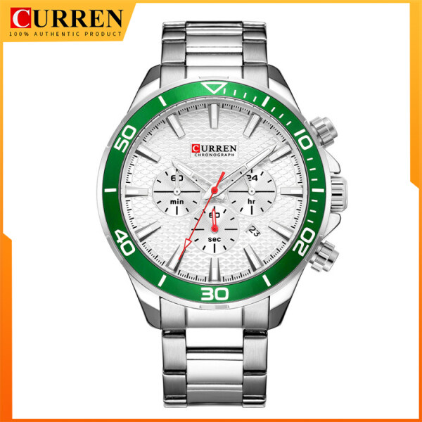 CURREN Mens Fashion Watches Chronograph Watches Stainless Steel Band For Man Luxury BrandWater Resistant Quartz Watch 8309 Malaysia