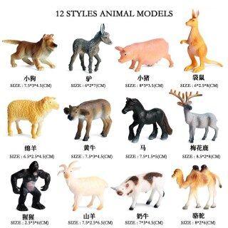 Mô Phỏng Trang Trại Rừng Động Vật Chó Lợn Cừu Mô Hình Hươu Sika Bộ 12 Dòng Phong Cách, Mô Hình Hành Động Kích Thước Nhỏ Đồ Chơi Cho Trẻ Em Quà Tặng thumbnail