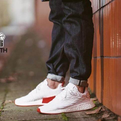 7a32d80ba1f85 Adidas NMD R2 White Red Travel shoes Boost Men Shoes Sport Shoes 36-44