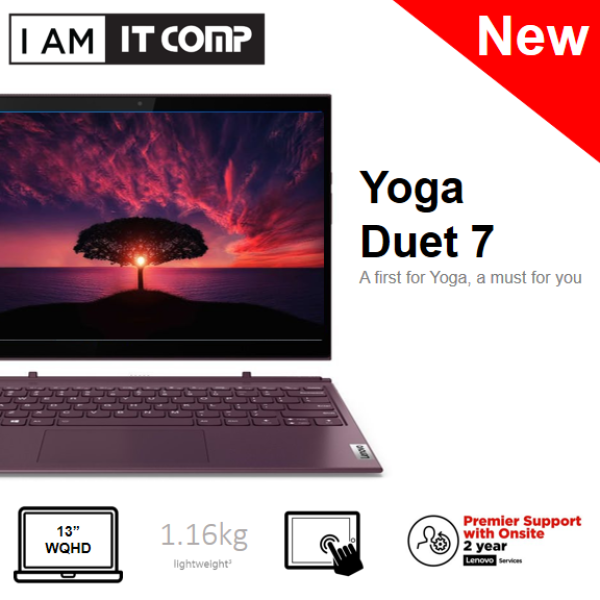 Lenovo Yoga Duet 7 13IML05 82AS0054MJ / 82AS007KMJ 13.3 WQHD Touch Laptop Slate Grey/Orchid (i5-10210U/8GB/256GB/W10) FOC WIRELESS MOUSE & F-SECURE 1 YEAR Malaysia