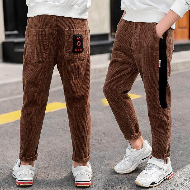 IENENS 5-13 Years Young Boy Girls Casual Clothes Trousers Boys Slim Straight Jeans Kids Baby Children Sports Denim Clothing Long Pants Elastic Waist Pants