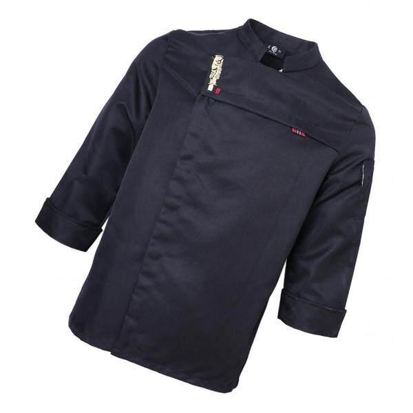 PrettyiaBlack/White Chef Jacket Waiter Hotel Work Apparel Chefwear M-3XL