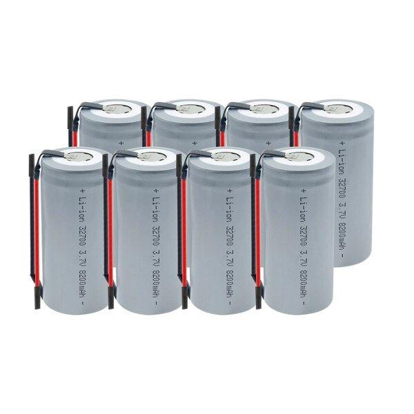 Pin 32700 3.7V 8200 MAh Sạc 32700 Pin Lithium Nguồn Dự Phòng Với Dây Hàn Cho Đèn Pin Đèn Năng Lượng Mặt Trời