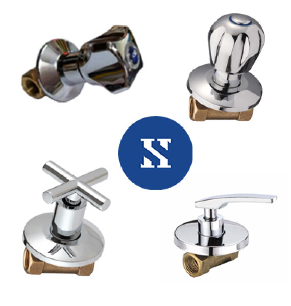 Ready Stock Stop Cock | Concealed / Chrome (1/2 standard size) | bathroom shower Stop Cock