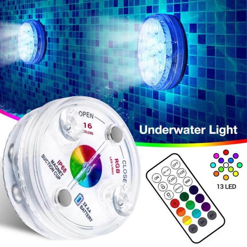 Đèn Dưới Nước IP68 Đèn LED Chìm Chống Nước Chống Mài Mòn Với Điều Khiển Từ Xa RF Cho Bể Cá Đài Phun Nước Bể Cá
