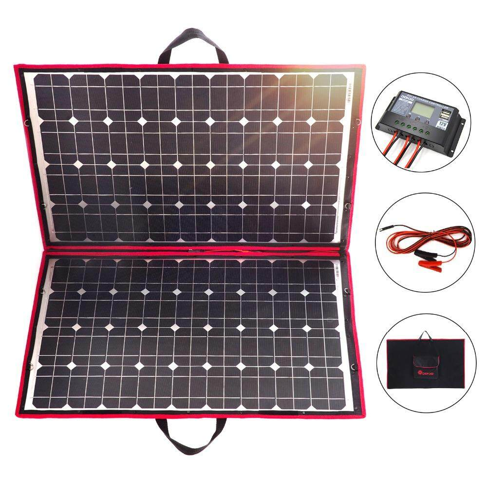 Dokio 18V 100w 110W Solar Panel 12V Flexible Foldble Solar Charge mobile phone usb Outdoor Solar Panels For camping/Boats/Home