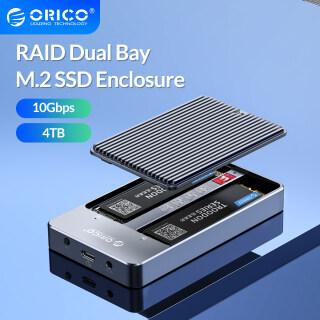 ORICO LSDT Vỏ SSD Dual Bay M2 RAID, Hỗ Trợ Đĩa SSD M.2 NGFF SATA Cho B Key & B + M Key SSD Hỗ Trợ Chế Độ PM RAID 0 RAID 1 JBOD (M2N210-RC3) thumbnail